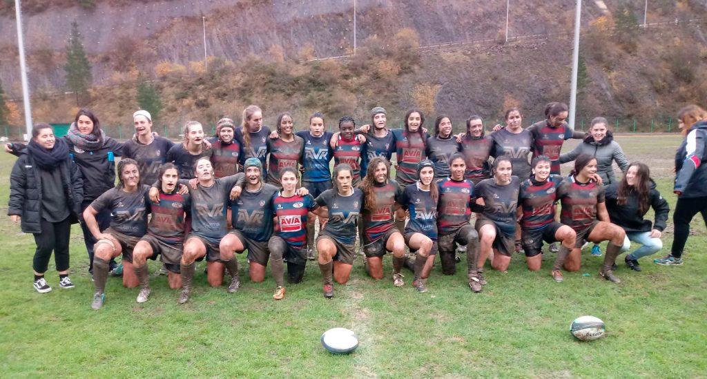 Avia Eibar Rugby Serior Neskak garaipena lortu du eta guztiz lakaztuta!