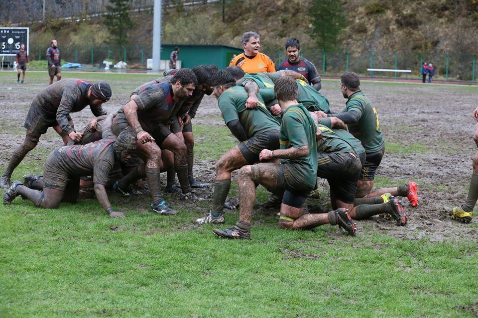 Avia Eibar Rugby Taldea 17-18  galdu zuen  Uribealdea RKE-ren aurka.